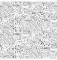 Aquapark doodle seamless pattern vector image vector image