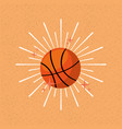 ball sport basketball sunburst color background vector image