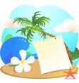 beach1 vector image vector image