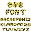 bee alphabet vector image vector image
