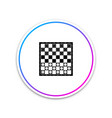 Board game checkers icon isolated on white