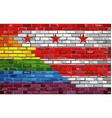 brick wall washington dc and gay flags vector image vector image