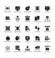 bundle of data science glyph icons vector image vector image