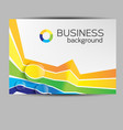 business horizontal brochure vector image
