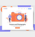 camera and photography concept vector image