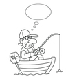 Cartoon Fisherman vector image vector image