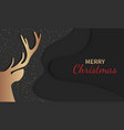 christmas deer holiday greeting card party vector image vector image