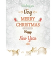 Christmas greetings card template EPS 10 vector image vector image