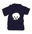 comic cartoon skull tee vector image