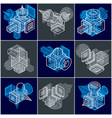 different engineering constructions collection vector image vector image