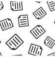 document note icon seamless pattern background vector image vector image