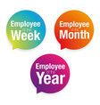 emloyee of the week month year vector image vector image