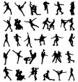 figure skaters vector image vector image