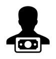 finance icon male user person profile avatar sign vector image