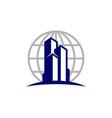 globe real estate logo icon design