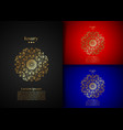 golden luxury mandala logo template flyer cards vector image vector image