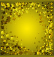 golden postcard from yellow rhombuses on a gold vector image