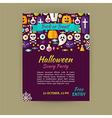 Halloween Holiday Template Banner Flyer Modern
