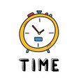 hand draw clock icon in doodle style for your vector image