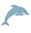 hand drawn doodle dolphin icon isolated vector image