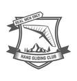 hang gliding club emblems template design element vector image vector image