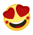 happy emoji lovely vector image