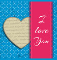 i love you headline design concept vector image