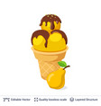 ice cream refreshing dessert isolated on white vector image