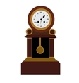 Isolated retro clock vector image vector image
