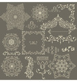 lacy vintage floral design elements vector image vector image