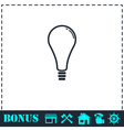 Lamp icon flat vector image