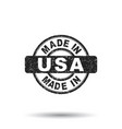 made in usa stamp on isolated background vector image vector image