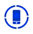 mobile turn icon vector image vector image
