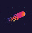 modern design gradient comet in galaxy space vector image vector image