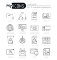 Modern thin line icons set of computer interface vector image vector image