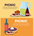 picnic infographic design vector image