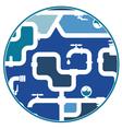 pipeline design vector image