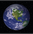 planet earth in space vector image vector image