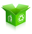 recycled box vector image