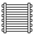 sauna wood frame icon outline style