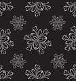 seamless of silver ornament vector image vector image