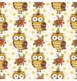 Seamless pattern with owls vector image vector image