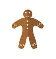 simple cute gingerbread vector image