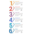 six steps - infographic template vector image vector image