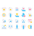 stay home icons pandemic quarantine covid19 vector image