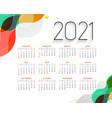 stylish colorful 2021 new year modern calendar