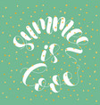 Summer is love lettering