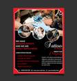 Tattoo art studio flyer template design