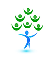 Teamwork tree logo vector image