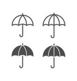 umbrella icons lined and filled style vector image vector image